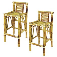 "Tiki 28"" Bar Stool (Set of 2)"