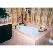 """Builder Oval 60"""" x 42"""" Air/Whirlpool Bathtub with Thermal System"""