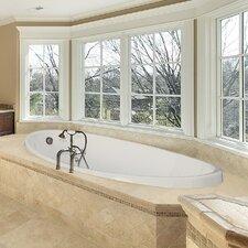 """Designer Carli 60"""" x 36"""" Air/Whirlpool Bathtub with Thermal System"""