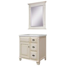 "Victorian 31"" Single Bathroom Vanity Set with Integrated Sink"