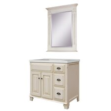 "Victorian 37"" Single Bathroom Vanity Set with Integrated Sink"