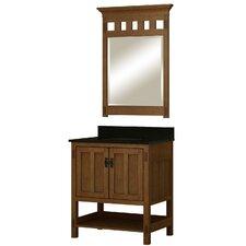 "American Craftsman 30"" Single Bathroom Vanity Set with Mirror"