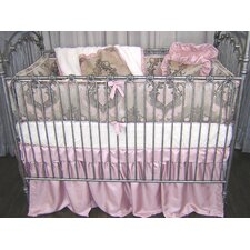 Pink Champagne 4 Piece Crib Bedding Set