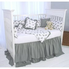 "Elephant Tales ""The Cotton Story"" 3 Piece Crib Bedding Set"