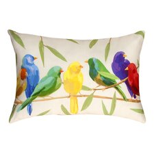 Birds of a Feather Indoor/Outdoor Lumbar Pillow