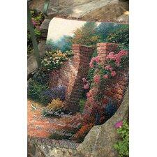 Rose Garden Tapestry Cotton Throw