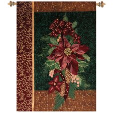 Winter Poinsettia Tapestry
