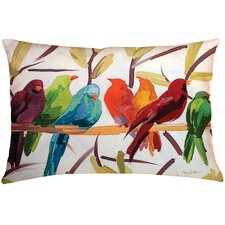 Flocked Together Birds Throw Pillow