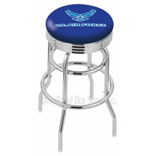 "US Armed Forces 30"" Swivel Bar Stool with Cushion"