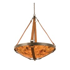Rodeo Drive 6 Light Bowl Inverted Pendant in Antique Copper