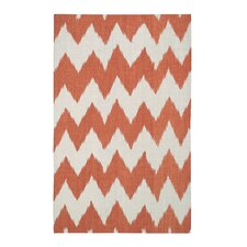Insignia Saffron Orange/White Area Rug