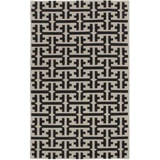 Grecian Deep Grey Geometric Area Rug