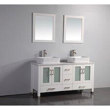 """59"""" Double Bathroom Vanity Set with Mirrors"""