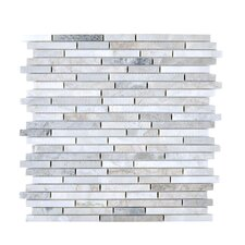 Random Sized Stone Mosaic Tile in Gray