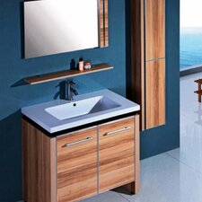 "31"" Single Bathroom Vanity Set with Mirror and Cabinet"