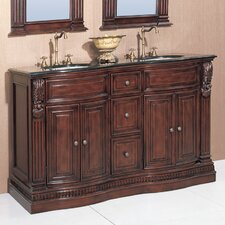 "Willhelm 60"" Double Chest Bathroom Vanity Set"