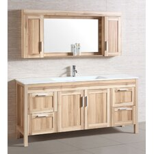 "71"" Single Bathroom Vanity Set with Mirror"