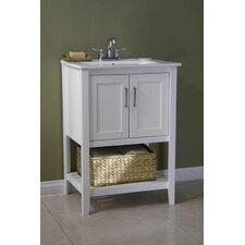 "24"" Single Bathroom Vanity Set with Basket"