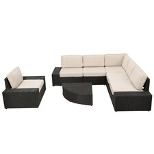 San Lorenzo Outdoor 7 Piece Sectional Seating Group with Sunbrella Cushions