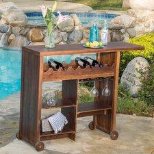 Romana Outdoor Wood Bar Cart
