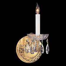 Bohemian Crystal 1 Light Candle Wall Sconce