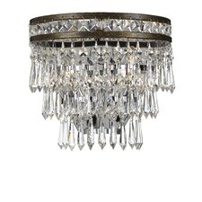 Mercer 2 Light Hand Cut Crystal Wall Sconce