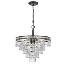 Mercer 6 Light Crystal Chandelier