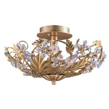 Abbie Floral 6 Light Semi Flush Mount