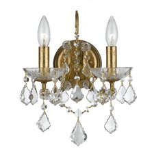 Filmore 2 Light Crystal Wall Sconce