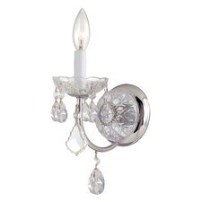 Imperial 1 Light Elements Crystal Wall Sconce