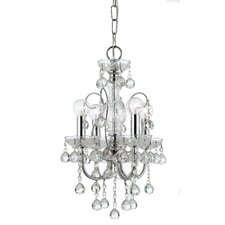 Imperial 4 Light Crystal Chandelier