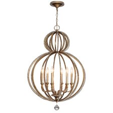 Garland 6 Light Crystal Chandelier