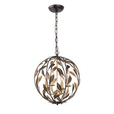 Crystorama 4 Light Ceiling Pendant