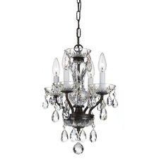Traditional Crystal 4 Light Candle Chandelier