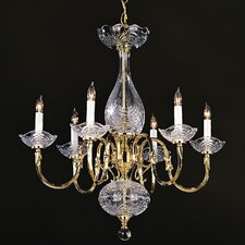 Historical Brass 6 Light Chandelier