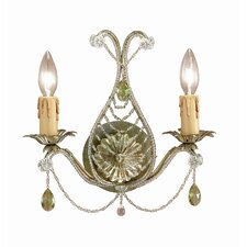 Abigail 2 Light Crystal Candle Wall Sconce