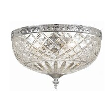 Richmond 2 Light Flush Mount with Lead Crystal