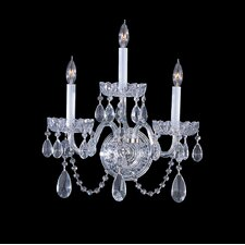 Traditional Crystal 3 Light Elements Crystal Wall Sconce