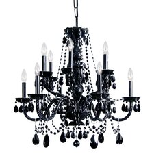 Traditional Crystal 6 Light Chandelier with Hand Cut Crystal