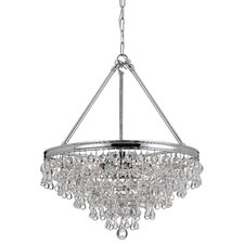 Calypso 8 Light Chandelier with Clear Crystals