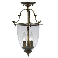 Bell Jar 3 Light Convertible Foyer Pendant