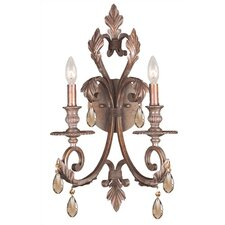 Royal 2 Light Candle Wall Sconce
