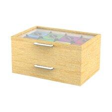 Wood Tea Bag and Accessory Holder