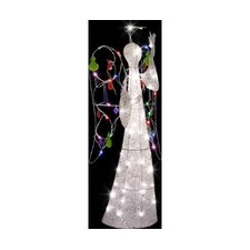 Jeweled Crystal Angel Christmas Decoration