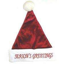 "Plush ""Season's Greetings"" Santa Hat"