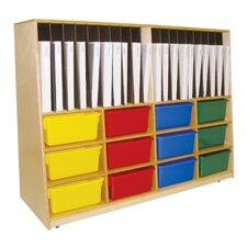 Tip-Me-Not Portfolio Storage with Twelve Trays