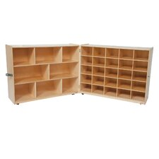 Tray and Shelf Single Folding Storage Unit