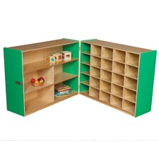Tray and Shelf Fold Storage Unit without Trays