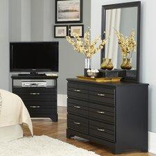 Platinum 6 Drawer Dresser with Mirror