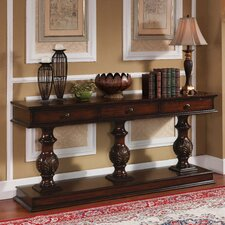 Console Table in Brown Cherry